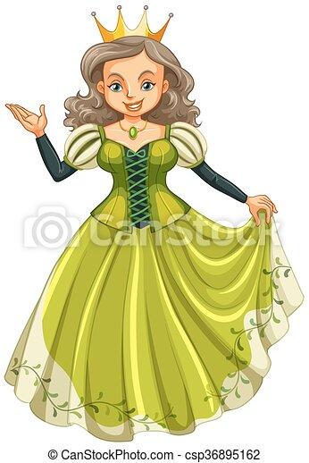 Green Dress Clipart