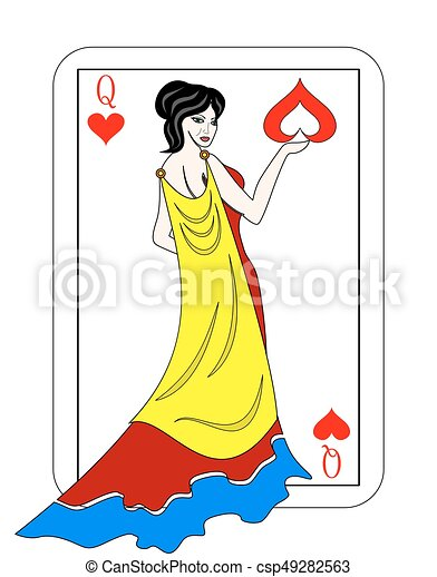 queen of cards - csp49282563