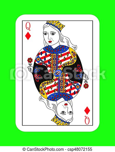 queen of cards - csp48072155