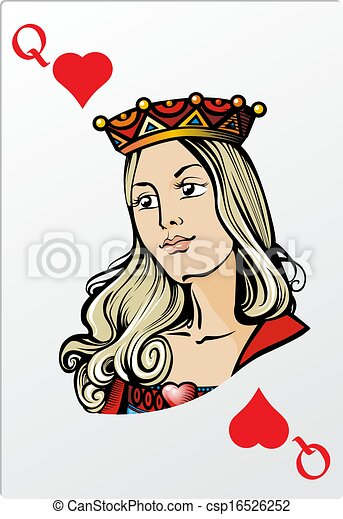 Queen of heart. Deck romantic graphics cards - csp16526252