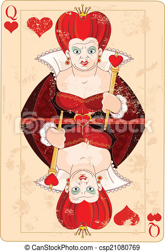 Queen of Hearts Card - csp21080769