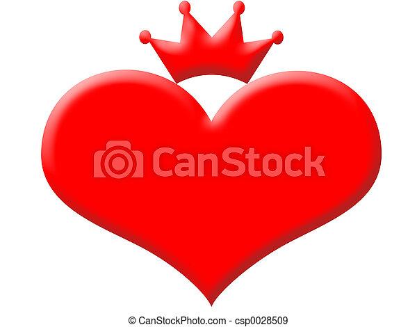 Queen of hearts - csp0028509