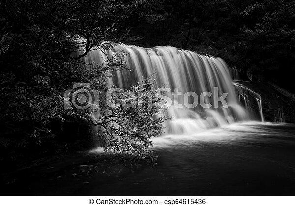 Queens Cascade Waterfall Blue Mountains - csp64615436