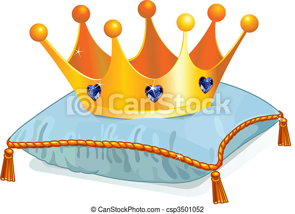 Queen's crown on the pillow - csp3501052