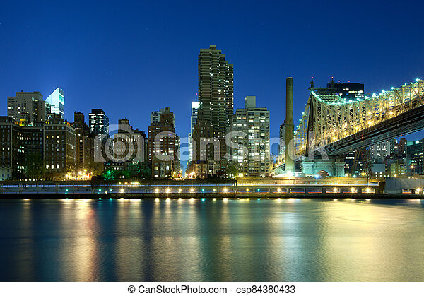 Queensboro Bridge in New York - csp84380433
