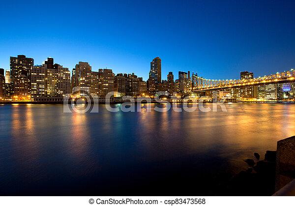 Queensboro Bridge over the East River - csp83473568