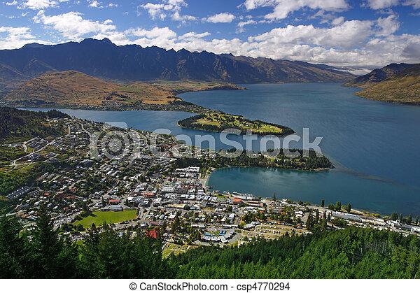 Queenstown, nuevo Zealand - csp4770294