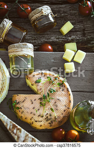 queijo, diferente, variedade - csp37816575