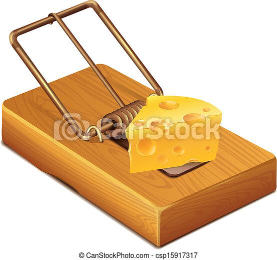 queijo, ratoeira - csp15917317