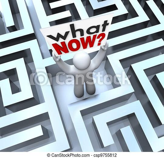 quel, perdu, confondu, signe, personne, tenue, labyrinthe, maintenant - csp9755812