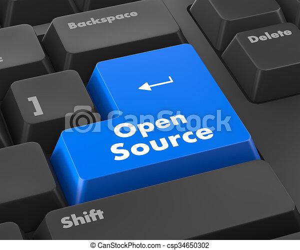 quelle, tastatur, rgeöffnete, taste - csp34650302