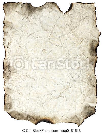 Una sábana quemada arrugada - csp0181618