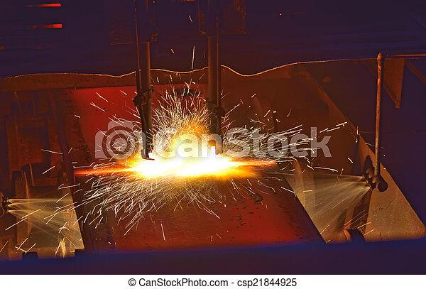 quentes, corte, metal - csp21844925