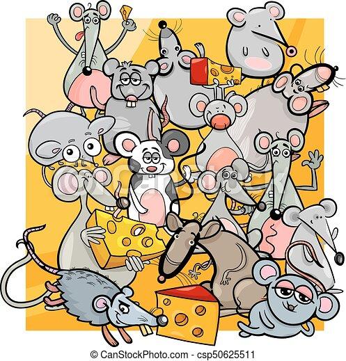 Queso Ratones Ratas Caricatura Lindo Ratas Queso