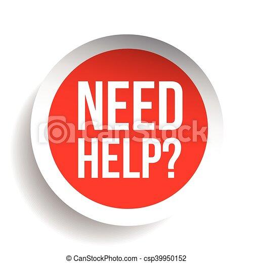 question, étiquette, vecteur, besoin, help?, icône - csp39950152