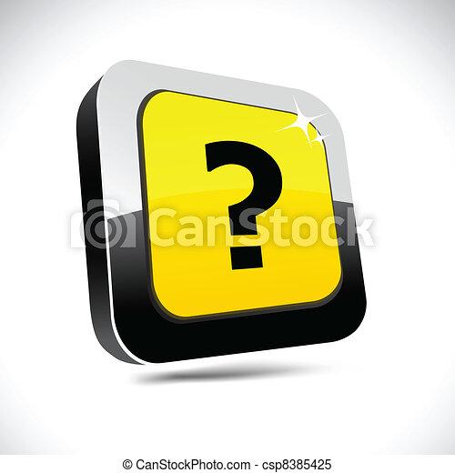 Question 3d square button. - csp8385425