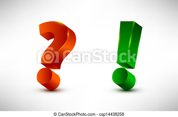 question and exclamation marks - csp14438258