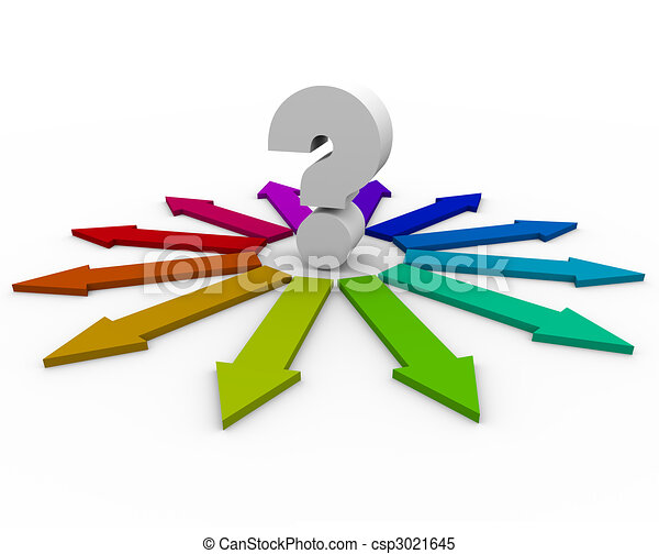 question, beaucoup, -, flèches, choix, marque - csp3021645