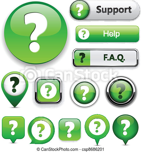 question, buttons., high-detailed, moderne - csp8686201