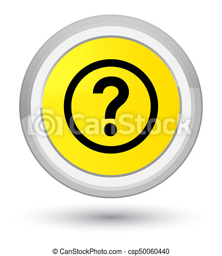 Question icon prime yellow round button - csp50060440