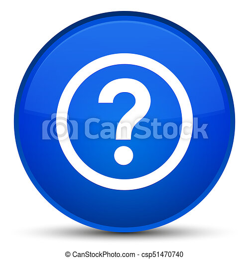 Question icon special blue round button - csp51470740