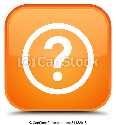 Question icon special orange square button - csp51482015