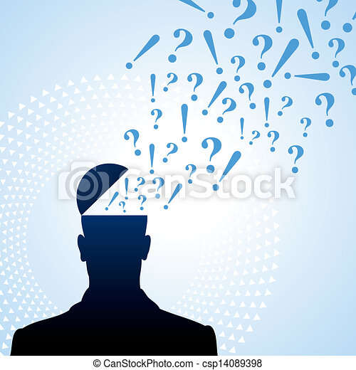 question mark and the person - csp14089398