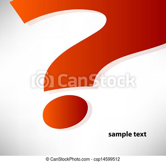 question mark background - csp14599512