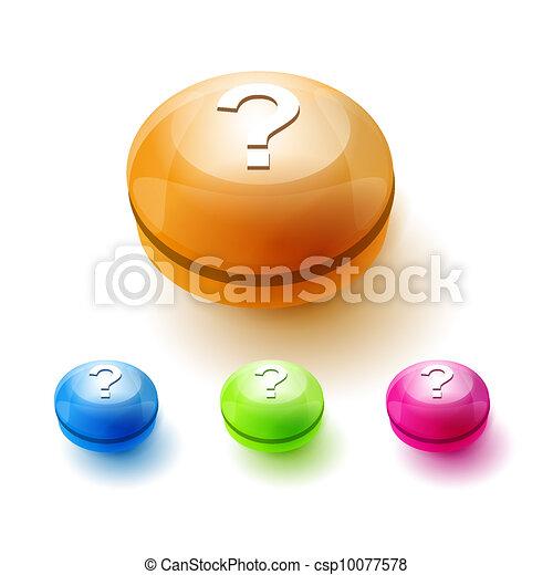 Question mark button - csp10077578
