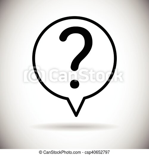 Question Mark Chat Bubble Icon - csp40652797