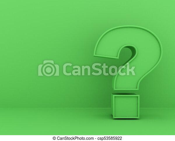 Question Mark concept . 3d rendered illustration - csp53585922