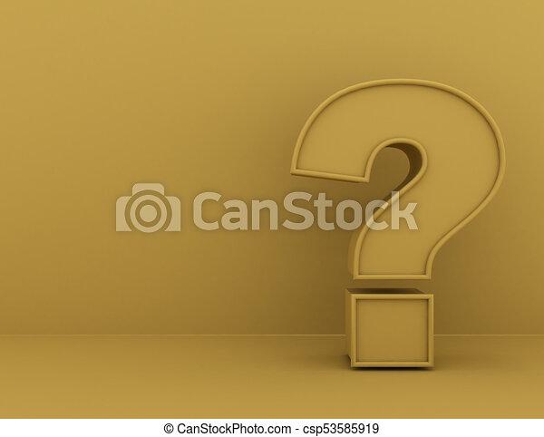 Question Mark concept . 3d rendered illustration - csp53585919