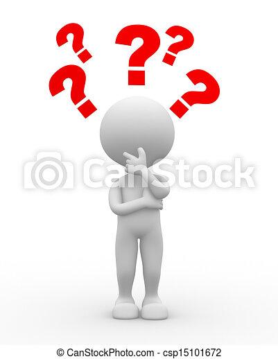 Question mark. Confusion - csp15101672