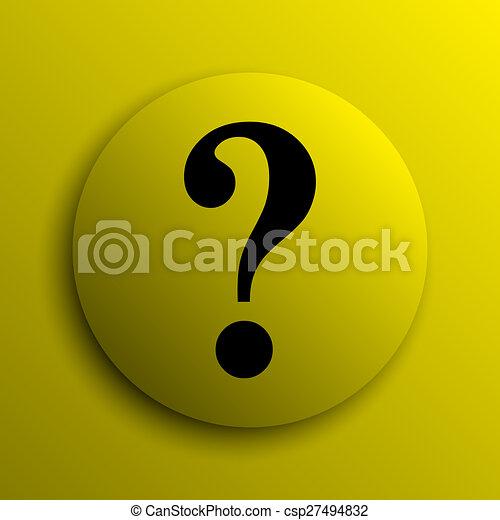Question mark icon - csp27494832