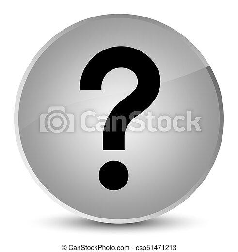 Question mark icon elegant white round button - csp51471213