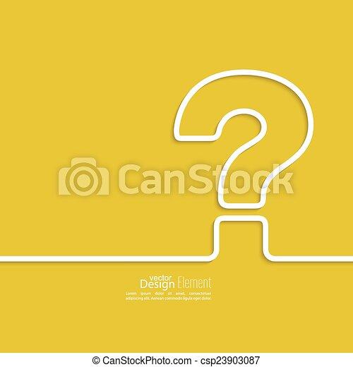 Question mark icon. - csp23903087