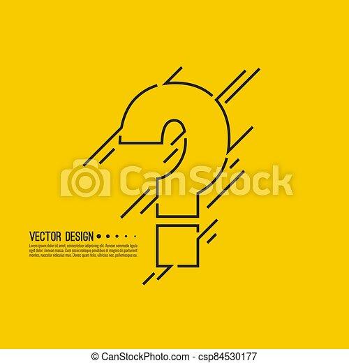 Question mark icon. - csp84530177
