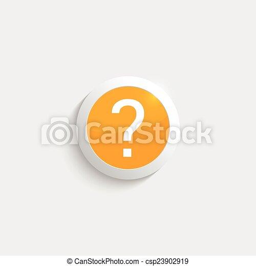 Question mark icon. - csp23902919