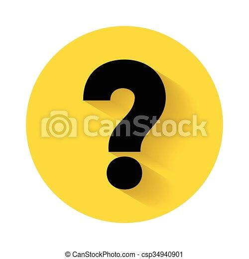 Question mark icon vector illustration - csp34940901