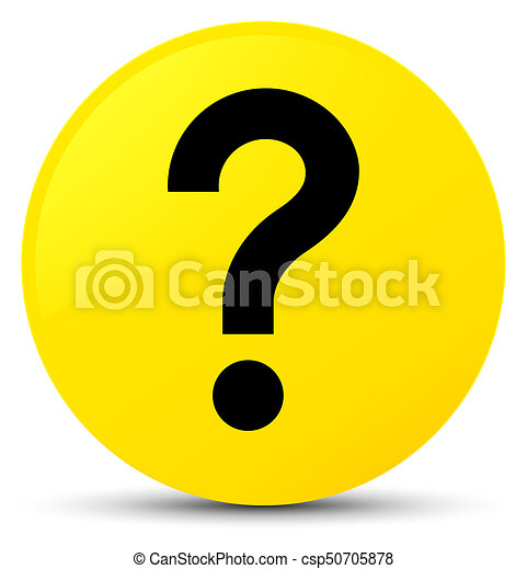Question mark icon yellow round button - csp50705878