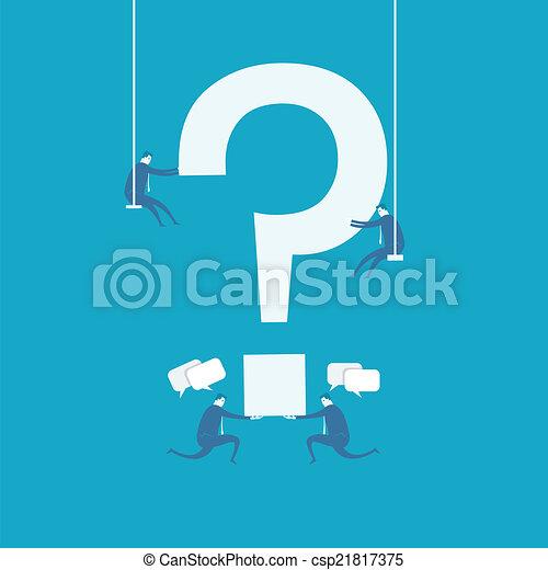 question mark - csp21817375