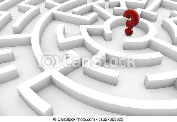 question mark in a maze - csp27363623