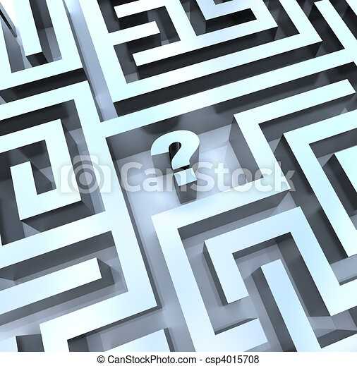 Question Mark in Maze - Find the Answer - csp4015708