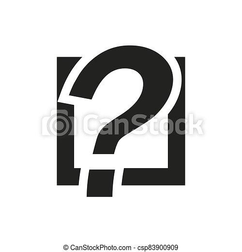 Question mark outline icon. Symbol, logo illustration for mobile concept and web design. - csp83900909