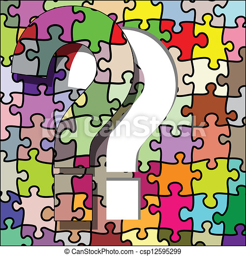 Question mark puzzle - csp12595299