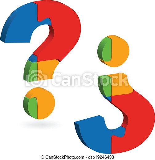 Question mark puzzle - csp19246433
