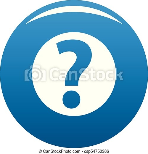 Question mark sign icon blue vector - csp54750386