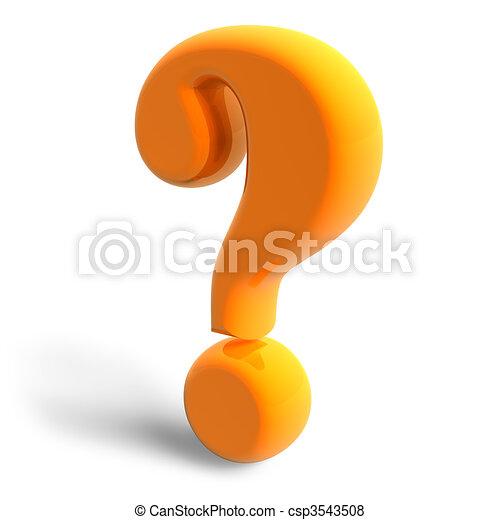Question mark  - csp3543508