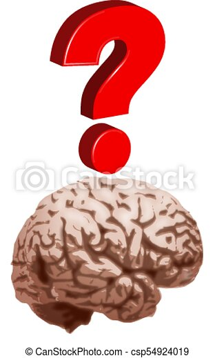 Question Mark with brain - csp54924019