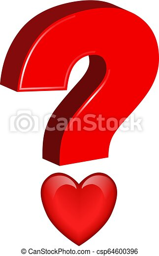 Question Mark with heart - csp64600396